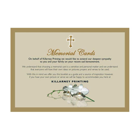 Killarney Printing - Memorial Cards