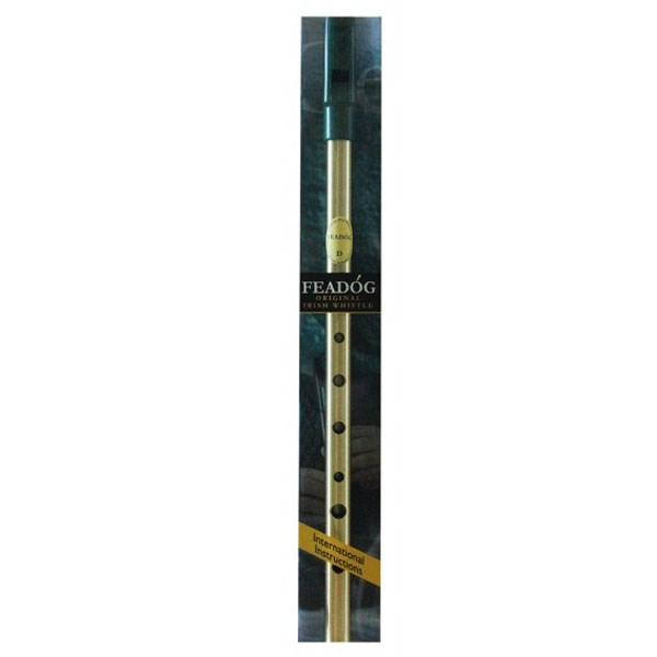 Brass Tin Whistle W-Instruction Booklet Ref- FW01