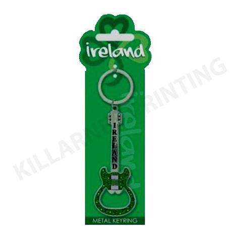 Ireland Charm Keyring – Guitar Bottle Opener Ref: 70440