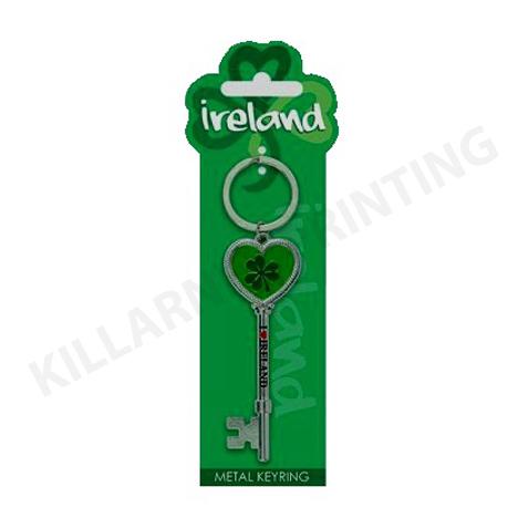 Ireland Charm Keyring – Shamrock Key Ref: 70441