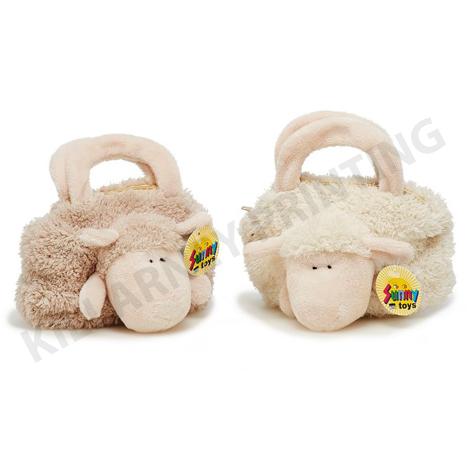 Soft Toy Range Sheep in Bag 19x19cm Ref: 32224